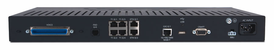 Adtran 924e 3rd generation business ip gateway back view
