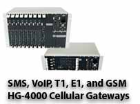HG-4000 Cellular Gateways for VoIP, TDM and SMS